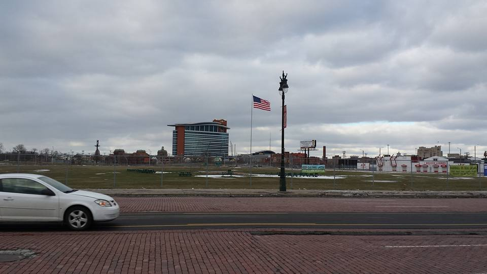 Last January I took my daughter on a trip to Detroit and we made a pilgrimage to the site of Tiger Stadium.  The site will soon be the new home of the Detroit Police Athletic League, along with other developments.  Of course, when one daydreams, there are no limitations.